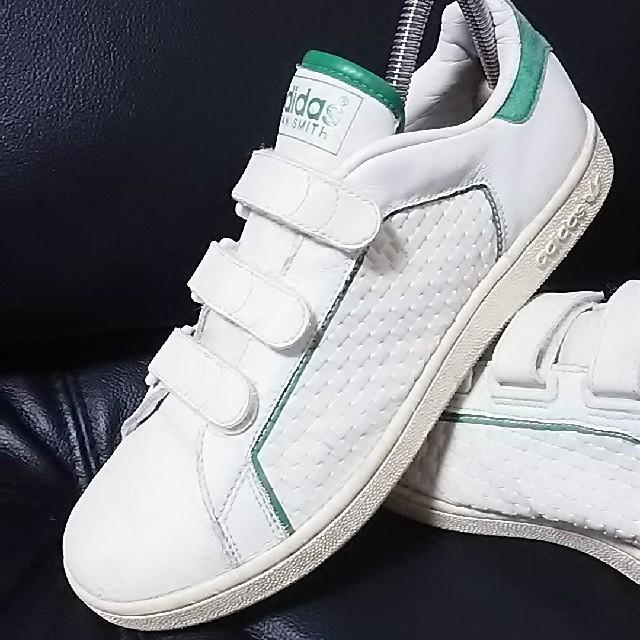 アディダス スニーカー 白 緑