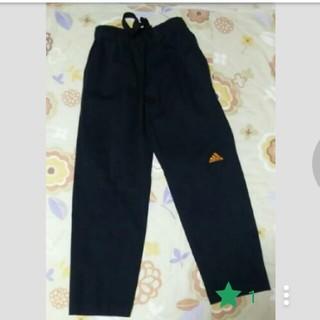 アディダス(adidas)の値下げ⭐アディダス size150 黒 綿 ストレートパンツ(パンツ/スパッツ)