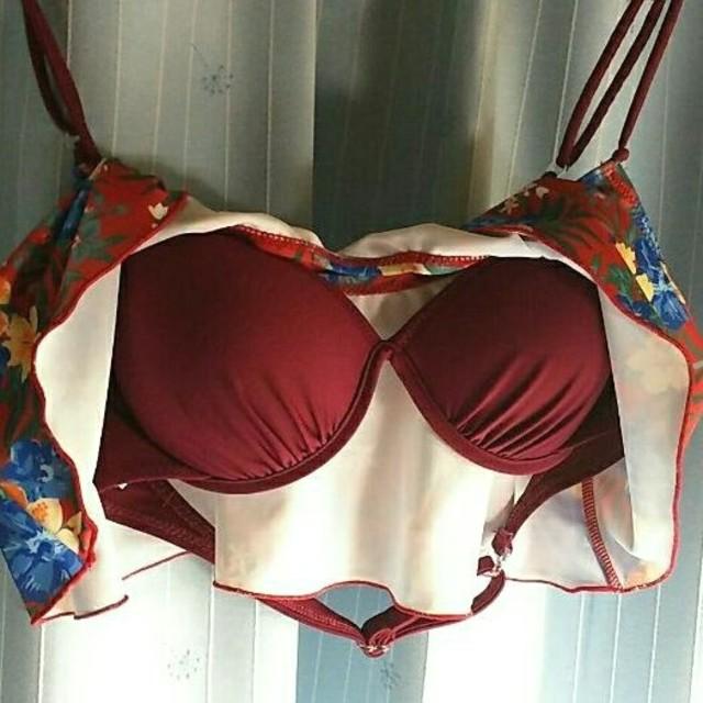 AMPHI(アンフィ)のAmphi アンフィフレアバンドゥビキニ レッド レディースの水着/浴衣(水着)の商品写真