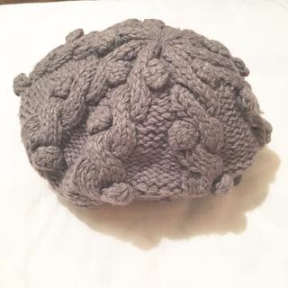 マーキュリーデュオ(MERCURYDUO)のグレー ニット ベレー帽 マーキュリー(ハンチング/ベレー帽)