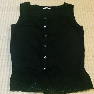 ドゥファミリー(DO!FAMILY)の前ボタンノースリーブ 綿100%(Tシャツ(半袖/袖なし))