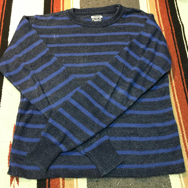BLUE BLUE(ブルーブルー)のBLUEBLUE コットンセーター メンズのトップス(ニット/セーター)の商品写真