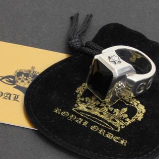 ロイヤルオーダー(ROYALORDER)の美品!ロイヤルオーダー ゴッドリング 正規店購入 付属品完備 ブラック(リング(指輪))