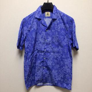 ギローバー(GUY ROVER)の中古 Lサイズ イタリア製 GUY ROVER ギローバー アロハシャツ ブルー(シャツ)