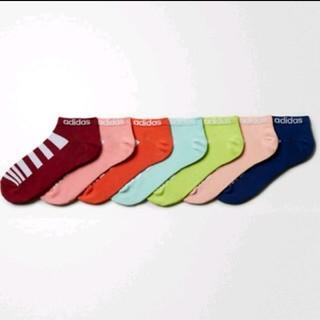 アディダス(adidas)の1足あたり約413円 アディダス ソックス 7足 22-24㎝ adidasロゴ(ソックス)