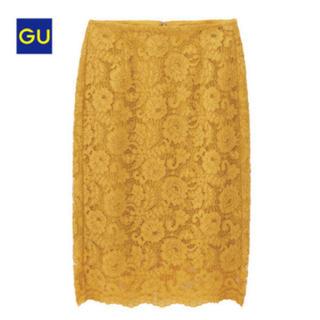 ジーユー(GU)の新品  GU  レースタイトスカート(ひざ丈スカート)