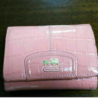 コーチ(COACH)のCOACHのピンクの可愛い財布(財布)