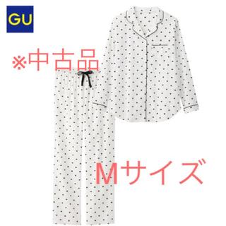 ジーユー(GU)の中古品◆ジーユー 長袖長ズボン ハート柄パジャマ セットアップ(パジャマ)