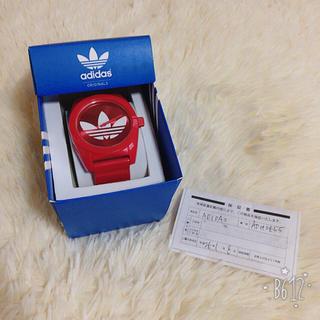 アディダス(adidas)のアディダス 腕時計 レッド 〈値下げ◎〉(腕時計)