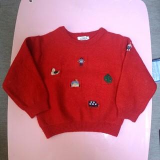 ファミリア(familiar)のファミリアのセーター赤 サイズ110 familiar(ニット)