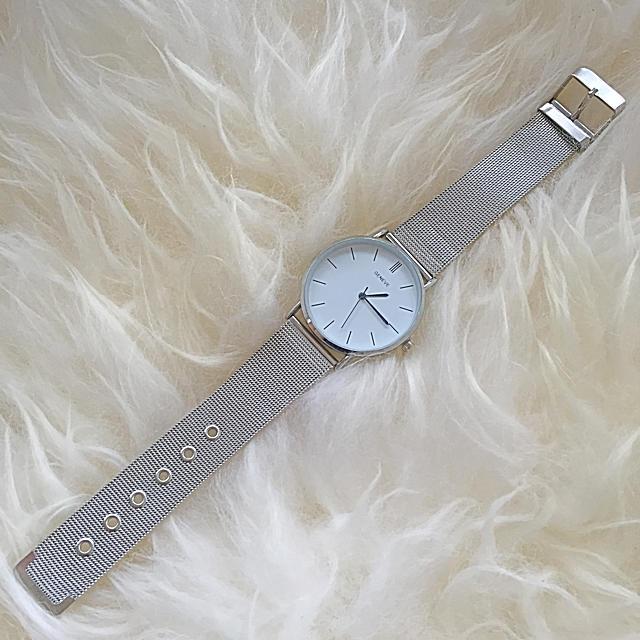 geneve 腕時計 メンズ レディース ユニセックス シルバー メッシュベルト メンズの時計(腕時計(アナログ))の商品写真