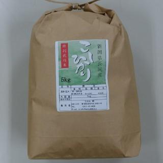 新米✨農家直送!新潟コシヒカリ精米5kg(米/穀物)