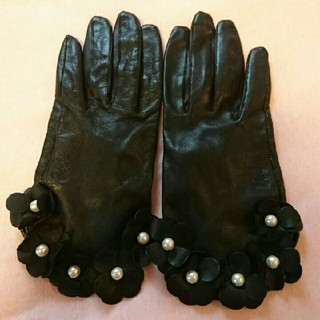 バービー(Barbie)の美品♡Barbieバービー・本革手袋グローブ黒(手袋)