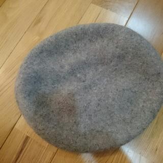 アースミュージックアンドエコロジー(earth music & ecology)のお客様専用です。✨グレーベレー帽 タグはありません 一度室内でかぶりました。(ハンチング/ベレー帽)