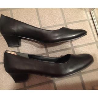 163様専用☆大きいサイズ26.5黒冠婚葬祭ヒール靴kandoクイーンサイズ(ハイヒール/パンプス)