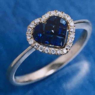 せんつぶ 様専用 サファイア ダイヤモンド リング k18(リング(指輪))