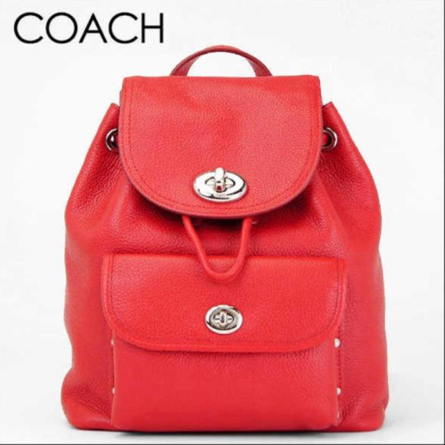 6f4472106b7d COACH - 【新品】COACH ミニターンロックリュック 赤の通販 by maa ...