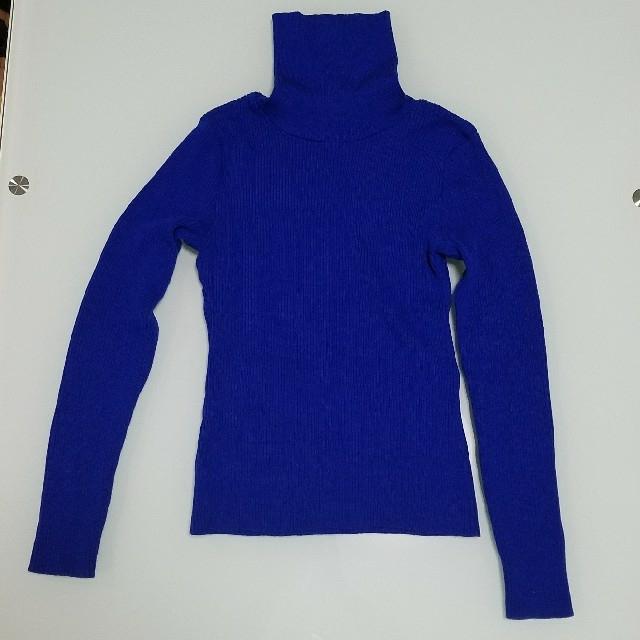 ♡値下げしました♡コバルトブルー タートルニット レディースのトップス(ニット/セーター)の商品写真