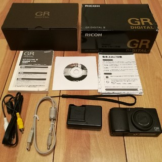 リコー(RICOH)のRICOH リコー GR Digital3 HEADPORTERケース付き(コンパクトデジタルカメラ)