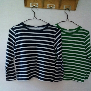 ジーユー(GU)のキッズ140長袖Tシャツ2枚組(Tシャツ/カットソー)