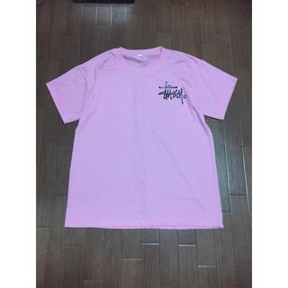 ステューシー(STUSSY)のstussyピンクTシャツ(Tシャツ(半袖/袖なし))