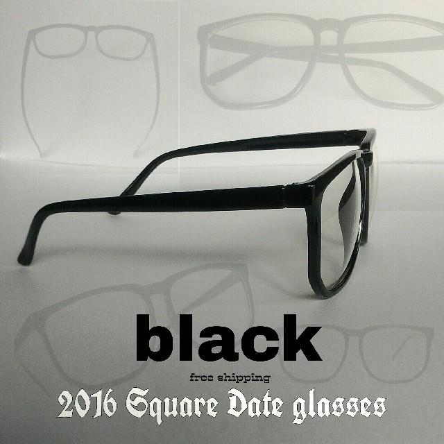 残りわずか!★新★伊 達 眼 鏡 (ダテメガネ)★UV★黒★1点 メンズのファッション小物(サングラス/メガネ)の商品写真