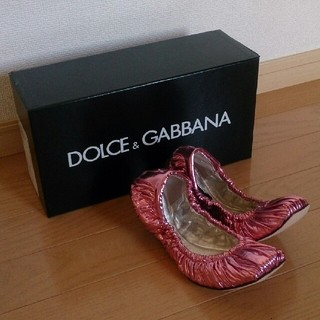 ドルチェアンドガッバーナ(DOLCE&GABBANA)の未使用DOLCE&GABBANA☆バレエシューズ(バレエシューズ)