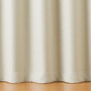 ムジルシリョウヒン(MUJI (無印良品))の【美品】ポリエステル二重織プリーツカーテン(防炎・遮光性)2枚1組(カーテン)