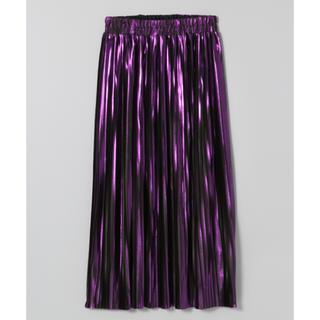 ジーナシス(JEANASIS)のメタリックプリーツスカート♡感度高め女子におすすめ!(ひざ丈スカート)