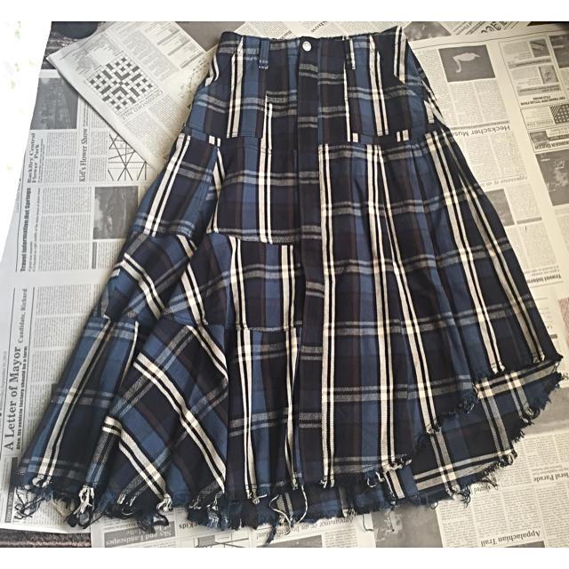 AGAINST(アゲインスト)のAGAINST チェックスカート レディースのスカート(ロングスカート)の商品写真