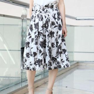 ノーブル(Noble)の2017 エステルタイプライタータックギャザースカート spick&span(ひざ丈スカート)