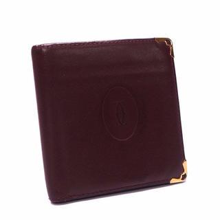 A311 カルティエ  二つ折り財布 マストライン ボルドー (折り財布)