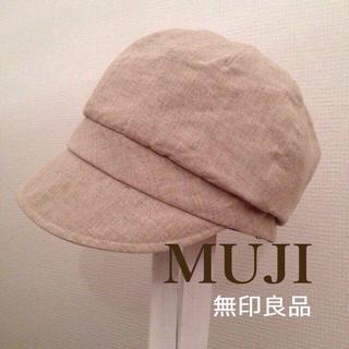 ムジルシリョウヒン(MUJI (無印良品))の100%リネン.:♪*キャスケット☆*(キャスケット)