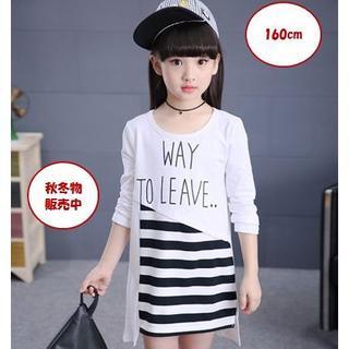 ワンピース 子供服 160cm  韓国 長袖  新品 こどもふく 160サイズ(ワンピース)