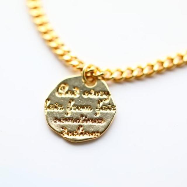 メッセージ大コイン 3ミリ ゴールド アンクレット メンズのアクセサリー(アンクレット)の商品写真