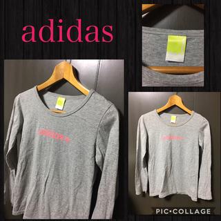 アディダス(adidas)のadidas 長袖ロングスリーブTシャツ 霜降りストレッチ レディースS~M美品(Tシャツ/カットソー(七分/長袖))
