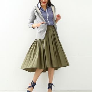 デミルクスビームス(Demi-Luxe BEAMS)のビームス Demi-Luxe BEAMS タイプライター ギャザースカート(ひざ丈スカート)