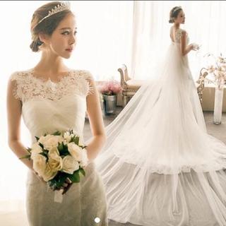 ロングトレーン ウェディングドレス(ウェディングドレス)