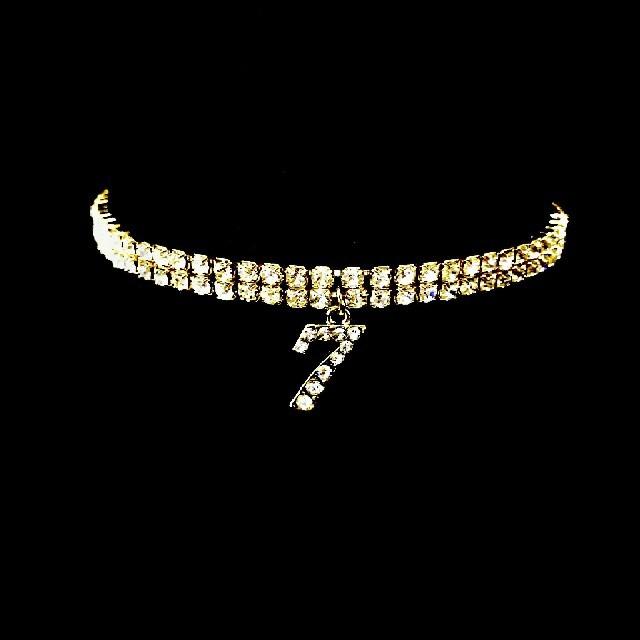 高級 ナンバーアンクレット ガガミラノやロンハーマン好きに ゴールド 2連 メンズのアクセサリー(アンクレット)の商品写真