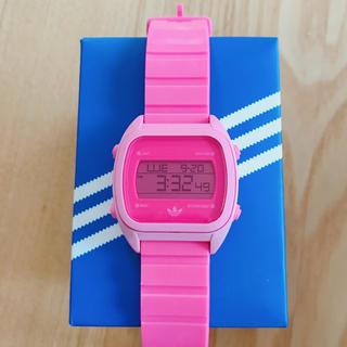 アディダス(adidas)のアディダス 腕時計 ピンク デジタル(腕時計)