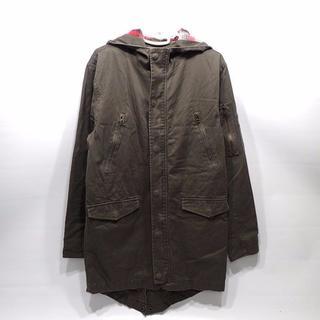 G15 リアルクラッシュクロージング ミリタリージャケット ロング M 秋 冬(ミリタリージャケット)