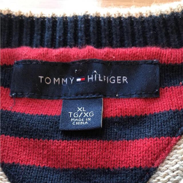 TOMMY HILFIGER(トミーヒルフィガー)のTommy Hilfiger ニット ベージュ XL 【大きいサイズ】トミー メンズのトップス(ニット/セーター)の商品写真