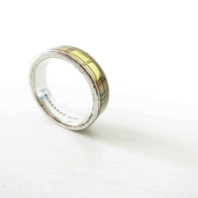 BURBERRY(バーバリー)のバーバリー BURBERRY 指輪 リング チェック柄 シルバー レディースのアクセサリー(リング(指輪))の商品写真