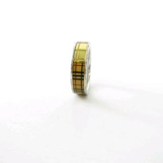 バーバリー(BURBERRY)のバーバリー BURBERRY 指輪 リング チェック柄 シルバー(リング(指輪))