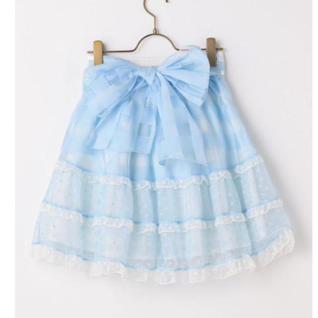 LIZ LISA(リズリサ)の大幅値下げしましたシアーギンガムハートスカート 新品未使用タグ付き レディースのスカート(ひざ丈スカート)の商品写真