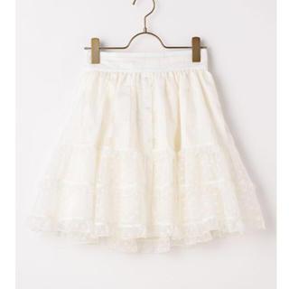 リズリサ(LIZ LISA)の大幅値下げしましたシアーギンガムハートスカート 新品未使用タグ付き(ひざ丈スカート)