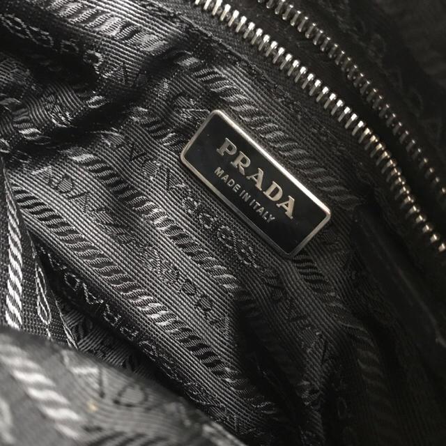 PRADA(プラダ)のPRADA 正規品 美品 ポーチバッグ ブラックレザー レディースのバッグ(ハンドバッグ)の商品写真