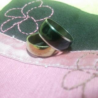 ゴールド ブラック 指輪 セット ⑤(リング(指輪))