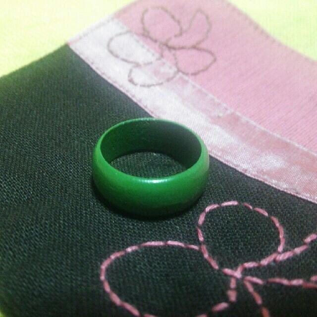 木製指輪 ガラス指輪 セット ⑫ レディースのアクセサリー(リング(指輪))の商品写真