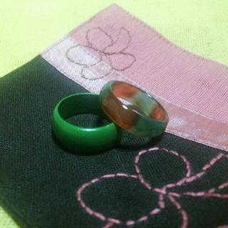 木製指輪 ガラス指輪 セット ⑫(リング(指輪))